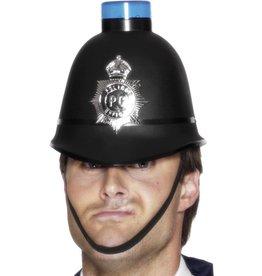 Engelse Politie Helm, met Zwaailicht.