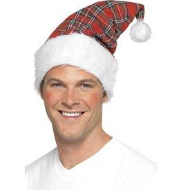 Schotse ruit Kerstmuts,
