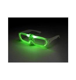 Bril met verlichting, licht wordt geactiveerd door geluid.