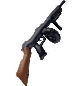 Opblaasbare Tommy Gun, zwart, 75cm