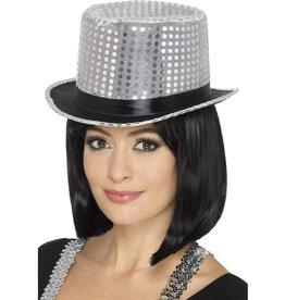 Sequin Hoge hoed, met elastische band
