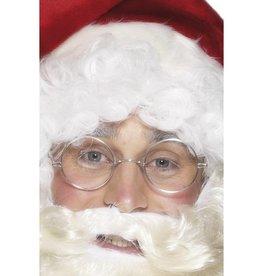 kerstman bril, zilverkleur montuur