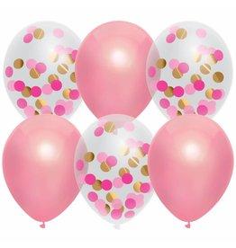 Ballonnenmix Prinses Pink (6 stuks)