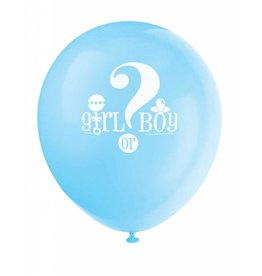 Gender Reveal Ballonnen (30 cm, 8 stuks), 1 zijde bedrukt