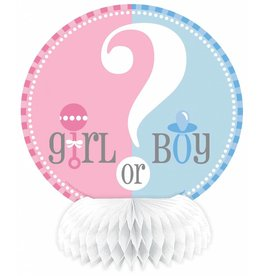 Gender Reveal Mini Honeycomb (4 stuks)