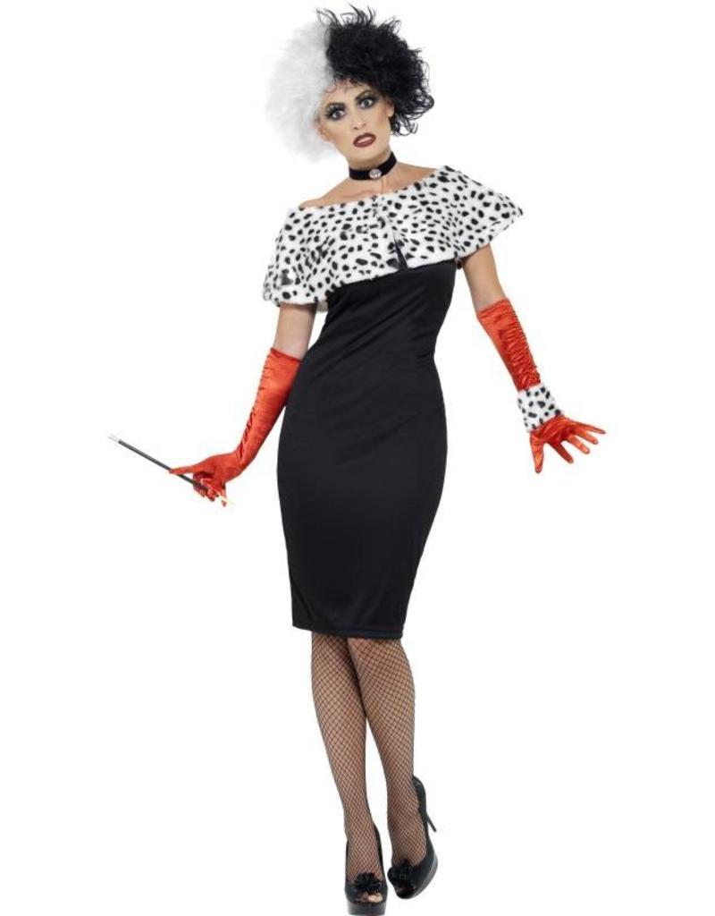 Evil Madame kostuum, met handschoenen