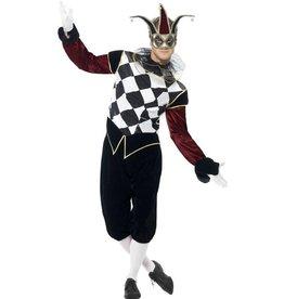 Gothic Venetiaans Harlekijn kostuum