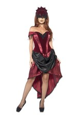 Venetian Temptress Costume, Red, with Top, Skii