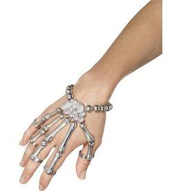 Skelet armband, zilver