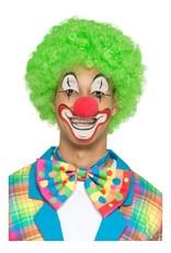 Grote Clown Strik,met neon strepen en stippen.