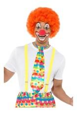Grote Clown Stropdas,met neon strepen en stippen.
