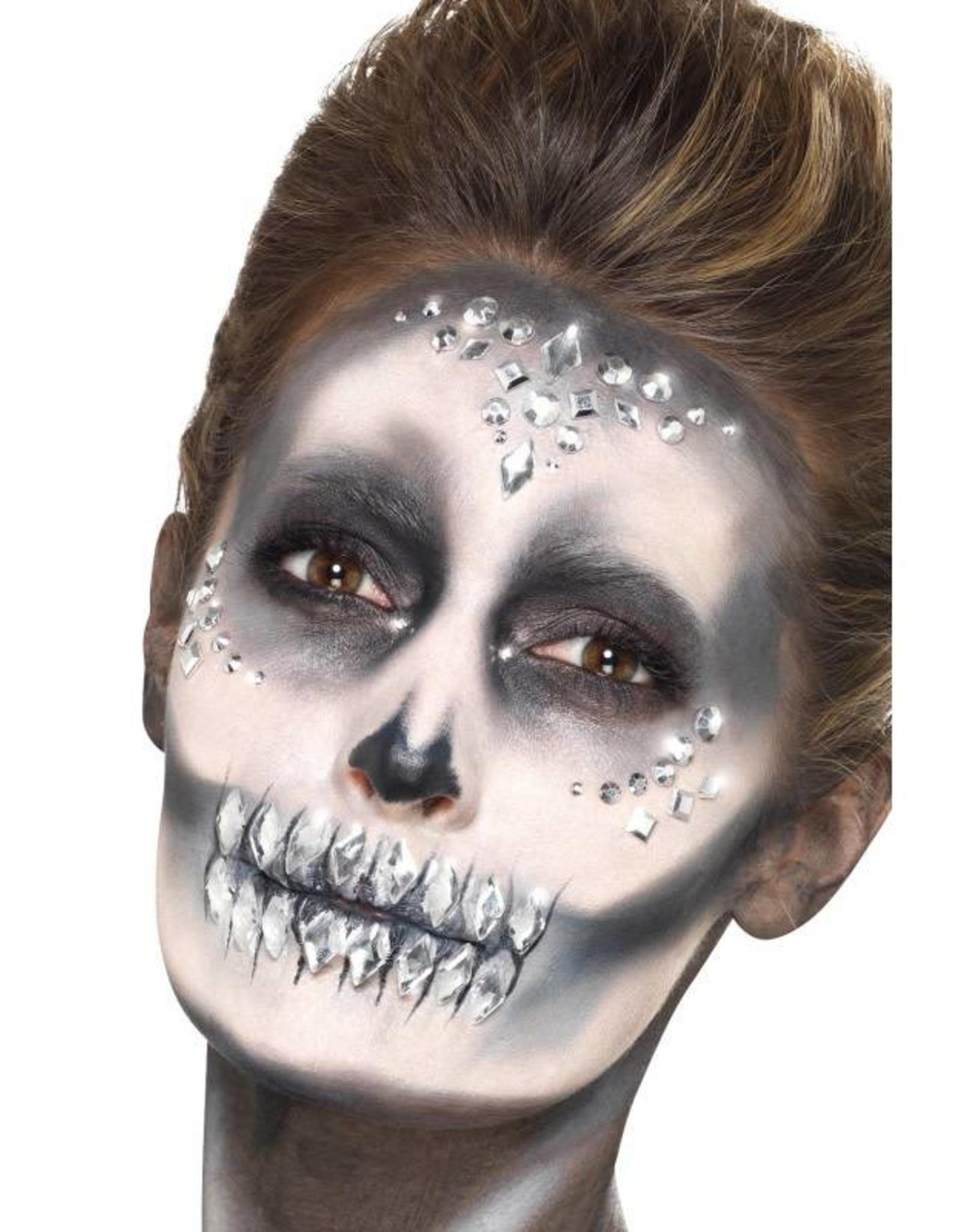Smiffys Make-Up FX, Silver, gezichtsjuwelen, glimmers