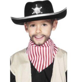 Sheriff Hoed, zwart met badge