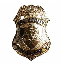 Security Guard embleem met speld, goud