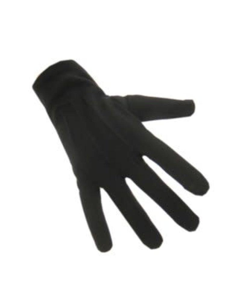 Handschoenen katoen kort zwart