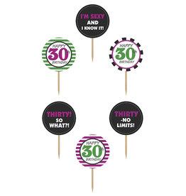 Cupcake Toppers 30 jaar