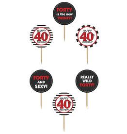 Cupcake Toppers 40 jaar