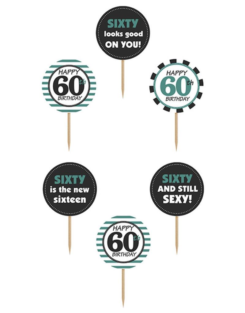 Cupcake Toppers 60 jaar