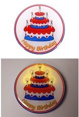 Button met lampjes Happy Birthday