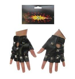 Vingerloze Handschoenen Kunstleer Zwart
