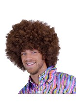 Super Afro Pruik Bruin