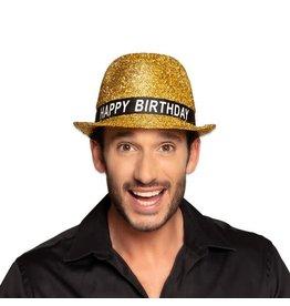 Hoed Sparkling Goud 'Happy Birthday'
