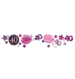 Confetti Sparkling Pink 40 jaar (34 gr)