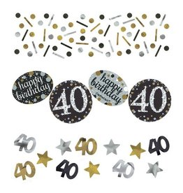 Confetti Sparkling Gold 40 jaar (34 gr)