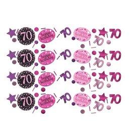 Confetti Sparkling Pink 70 jaar (34 gr)