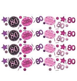 Confetti Sparkling Pink 80 jaar (34 gr)