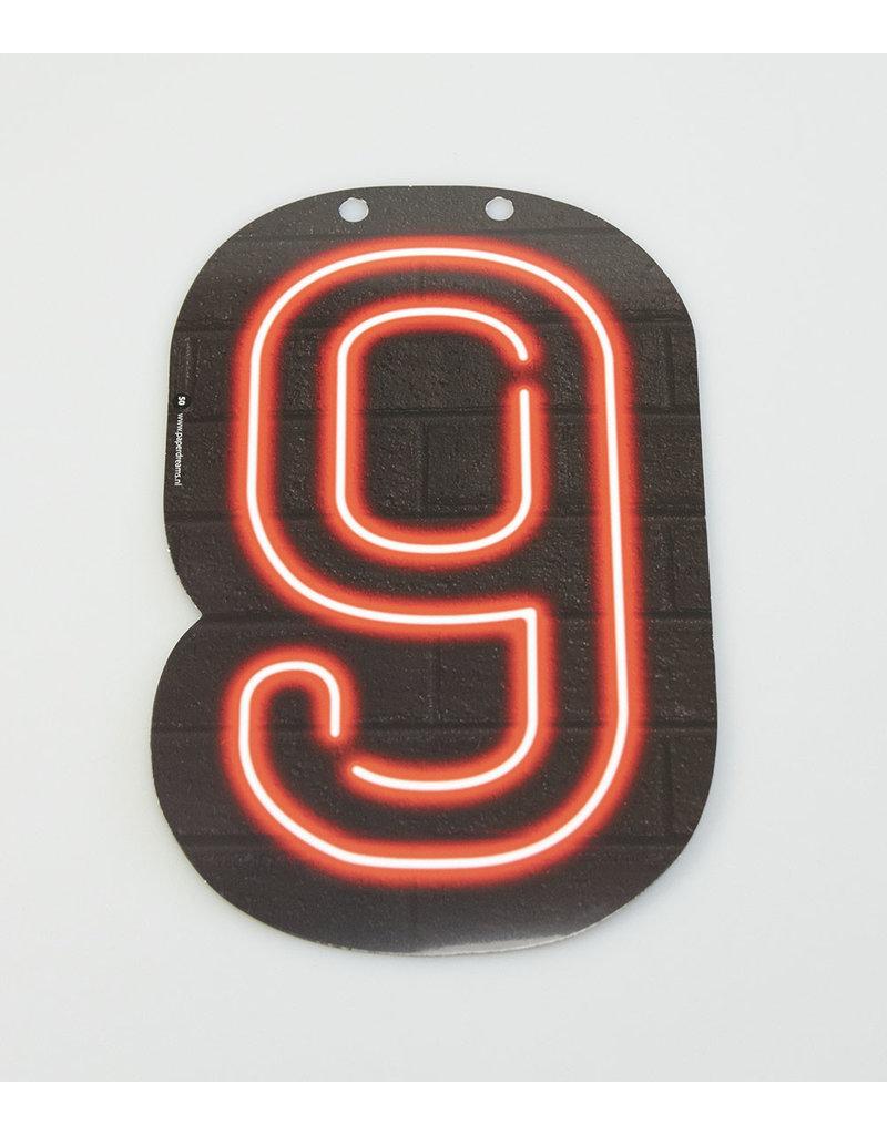 Neon letter - 9