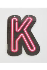 Neon letter - K