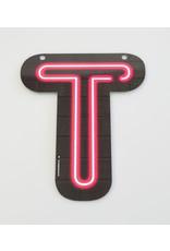 Neon letter - T