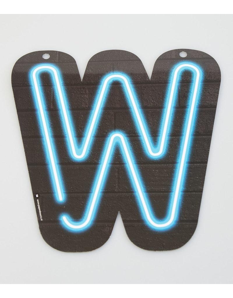 Neon letter - W