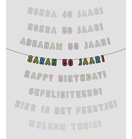 Neon slinger -  Sarah 50 jaar!