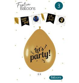 Ballonnen Let's Party (6 stuks)