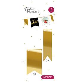 Festive Numbers Gouden Vaantjes (4 stuks)