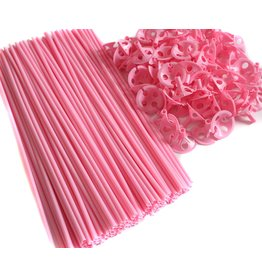 Balloonstick + Cups Roze