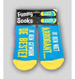 Funny Socks - Ik ben niet Arrogant