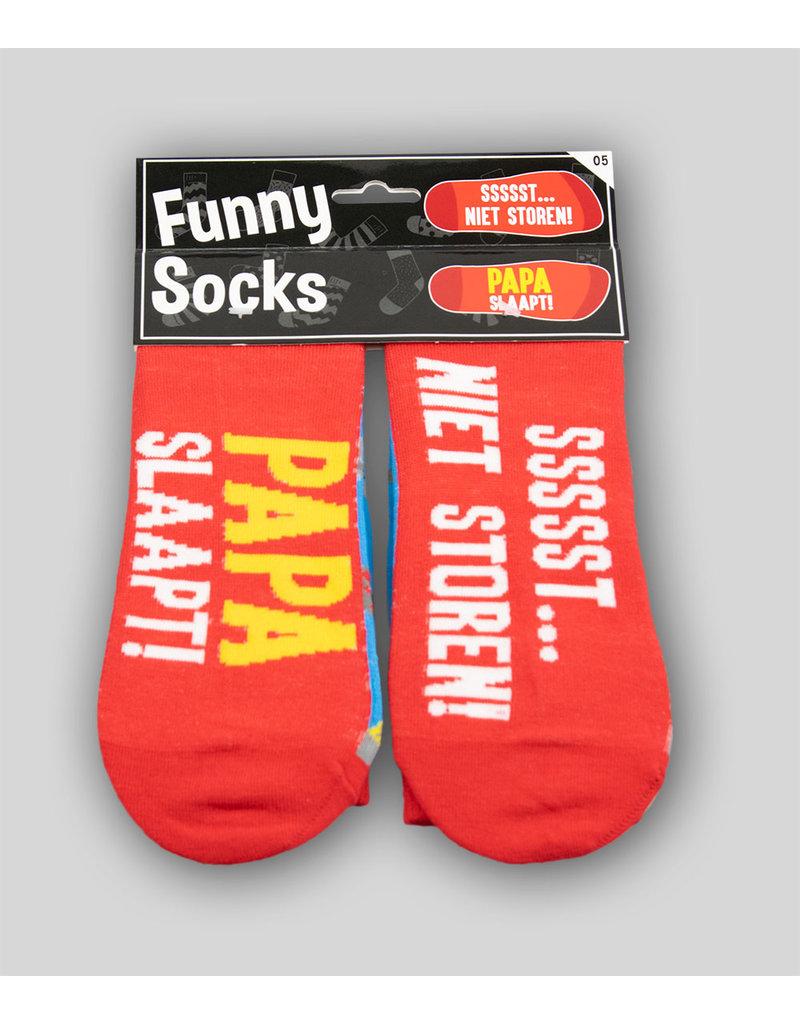 Funny Socks - Papa Slaapt Sssst