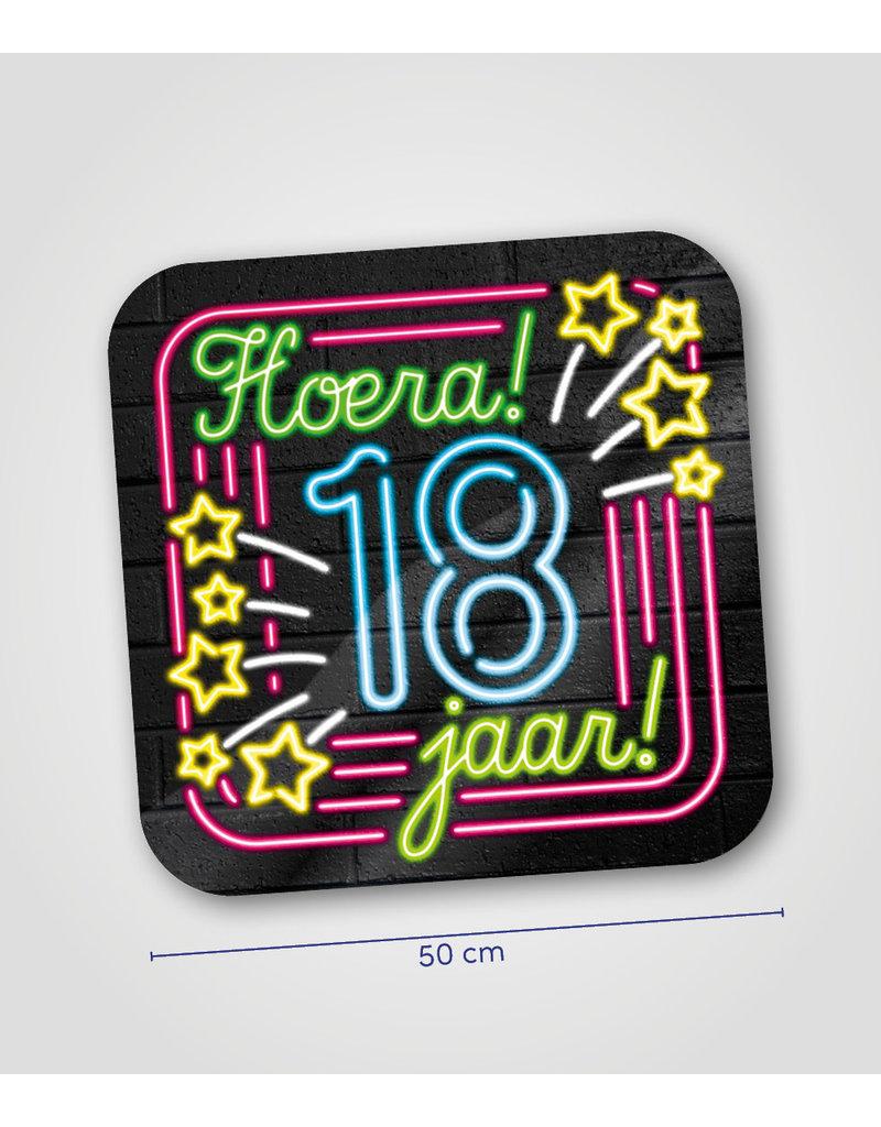Huldeschild Neon - 18 jaar