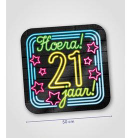 Huldeschild Neon - 21 jaar