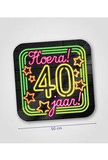 Huldeschild Neon - 40 jaar