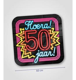 Huldeschild Neon - 50 jaar