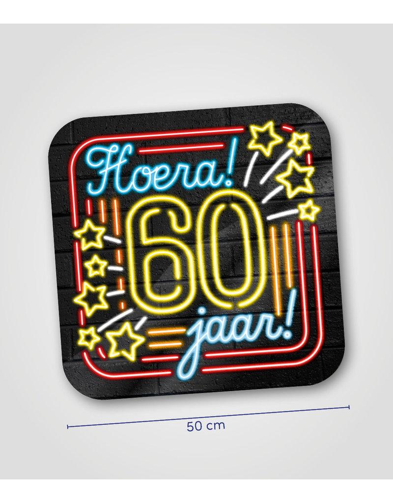 Huldeschild Neon - 60 jaar