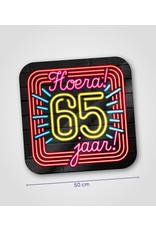 Huldeschild Neon - 65 jaar