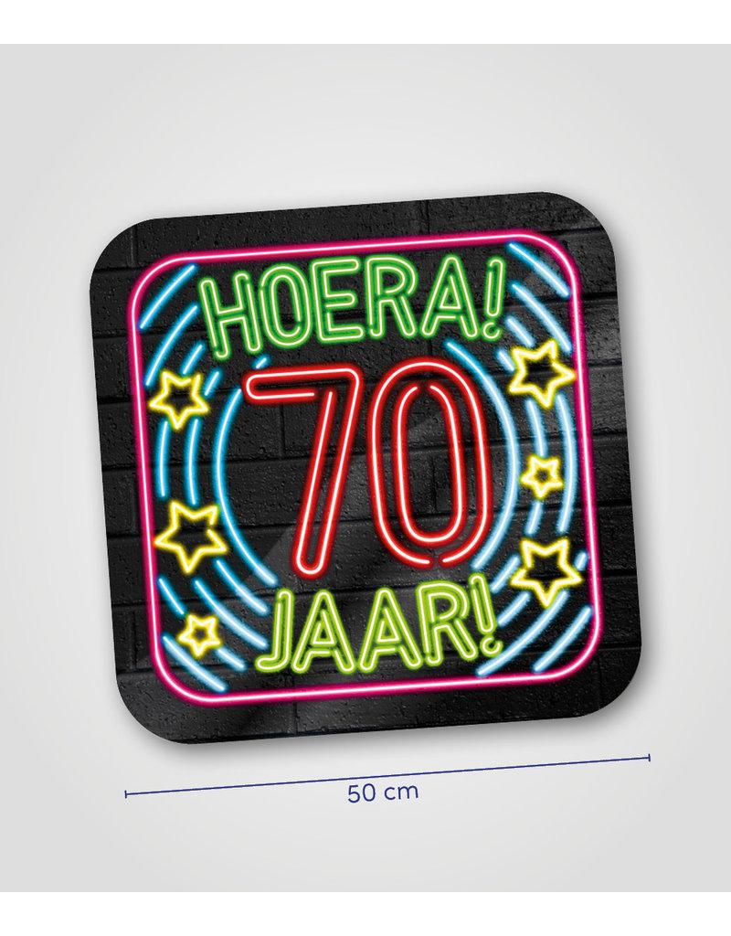 Huldeschild Neon - 70 jaar