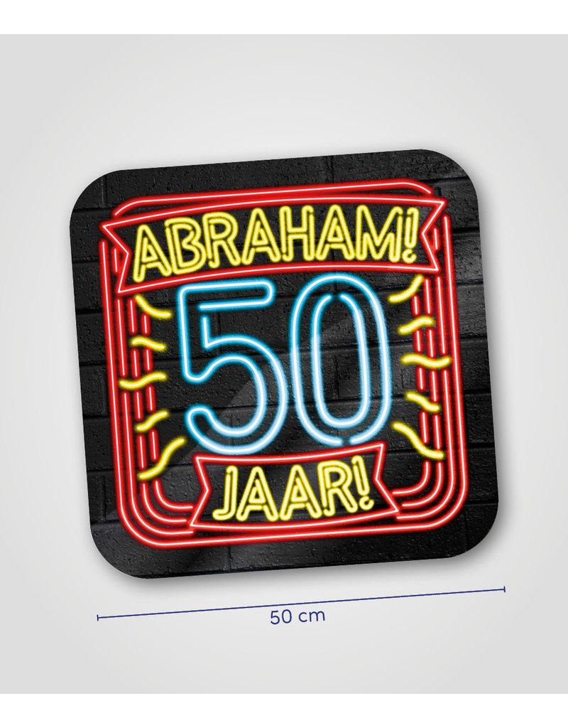 Huldeschild Neon - Abraham