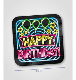 Huldeschild Neon - Happy Birthday