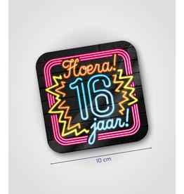 Onderzetter Neon - 16 jaar